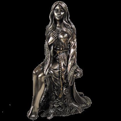 Bronze Maiden Goddess Statue
