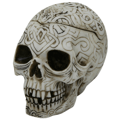 Celtic Skull Trinket Box