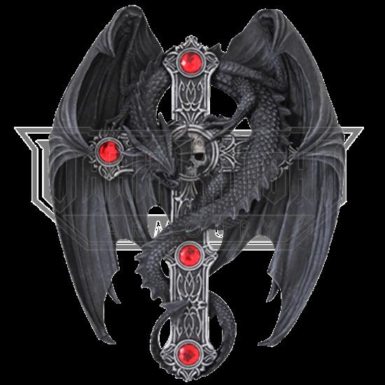 Gothic Guardian Dragon Cross