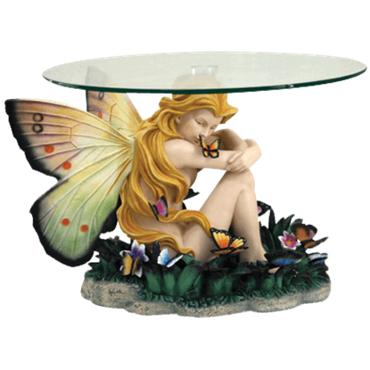 Field of Dreams Glass-Top Fairy Table