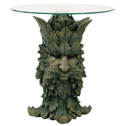 Greenman Glass-Top Table