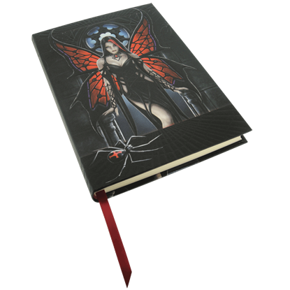 Embossed Arachnafaria Notebook