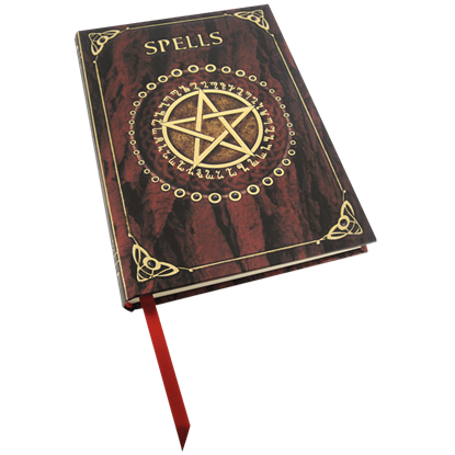 Embossed Red Spell Book Notebook