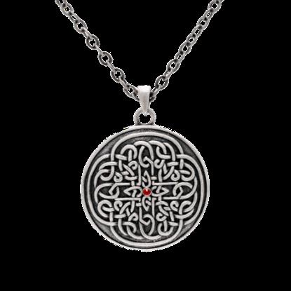Round Celtic Flower Necklace