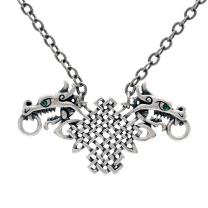 Celtic Knot and Dragon Necklace