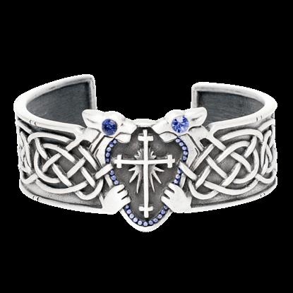 Celtic Lion Cross Bracelet