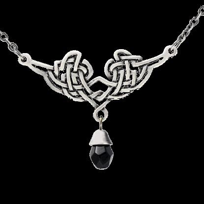 Black Jeweled Celtic Necklace