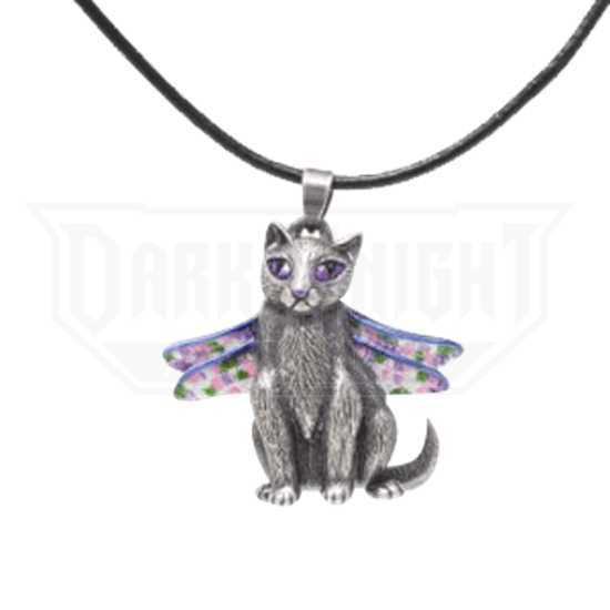 Dragonfly Fairy Cat Necklace
