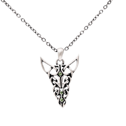 Jeweled Celtic Dragon Necklace