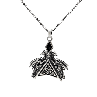 Celtic Double Dragon Necklace