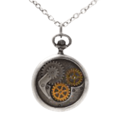 Compass Gear Steampunk Necklace
