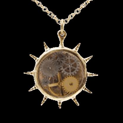 Kinetic Wheel Steampunk Necklace