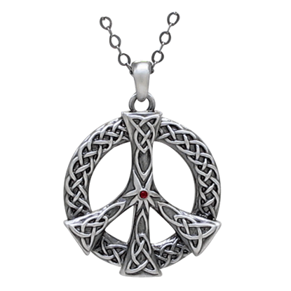 Celtic Peace Sign Necklace