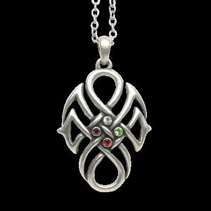 Fourfold Jewel Celtic Necklace