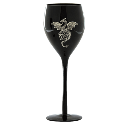 Dragon With Pentagram Wine Glass