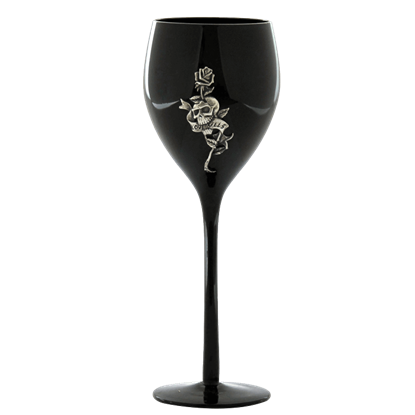Love Kills Wine Glass