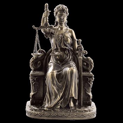 Le Justica Sitting Statue