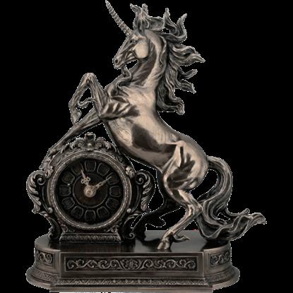 Rearing Unicorn Clock