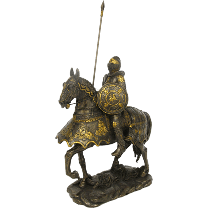 Medieval Spearman with Horse