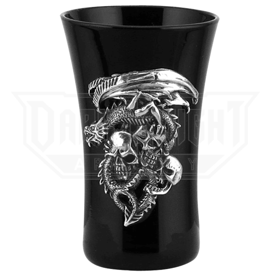 Dragon and Skulls Shot Glass