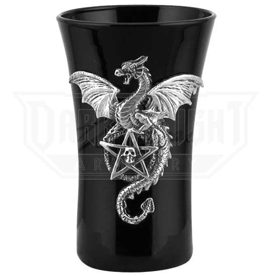 Dragon with Pentagram Shot Glass