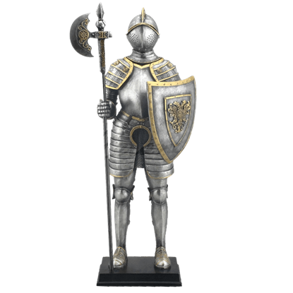 Armor with Pollaxe Statue