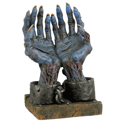 Chained Zombie Hands Figurine