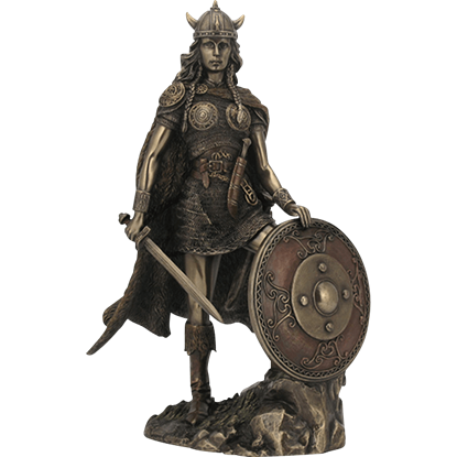 Female Viking Warrior Statue