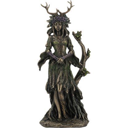 Bronze Guardian Goddess of the Trees Statue