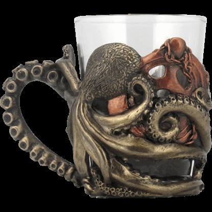 Steampunk Octopus Shot Glass