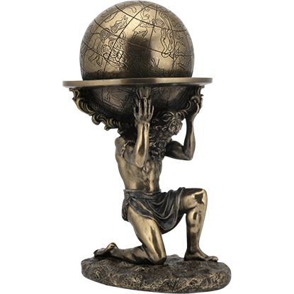Bronze Atlas Carrying the World Statue