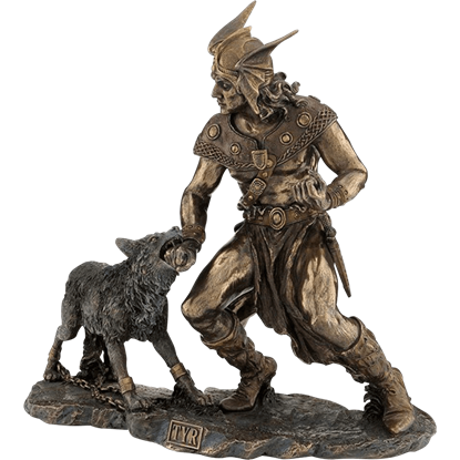 Tyr and Fenrir Statue