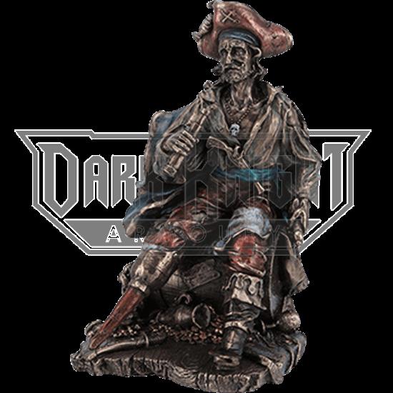 Bronze Pirate on a Barrel Statue
