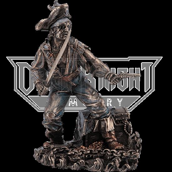 Bronze Pirate on Guard Statue