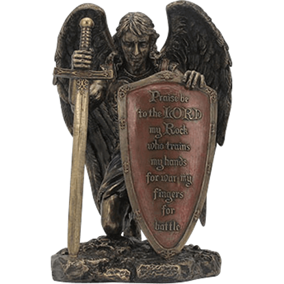 Angel with Prayer Shield Statue