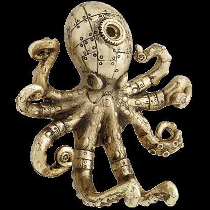 Gold Steampunk Octopus Wall Hook