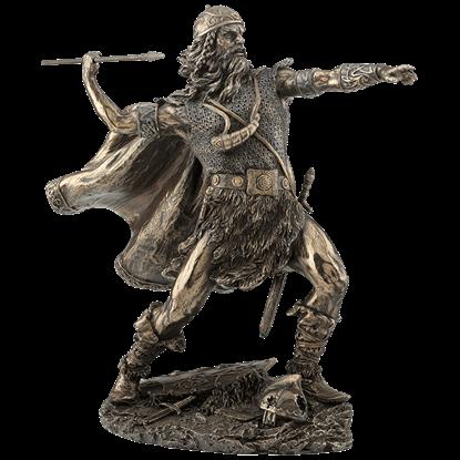 Viking Warrior Tossing Spear