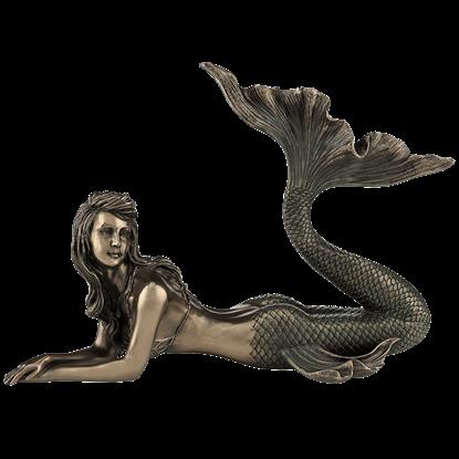 Bronze Sunbathing Mermaid
