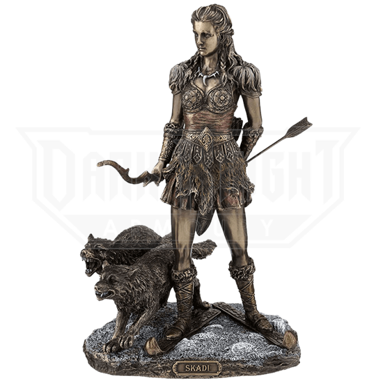 Bronze Skadi Goddess of Winter Statue