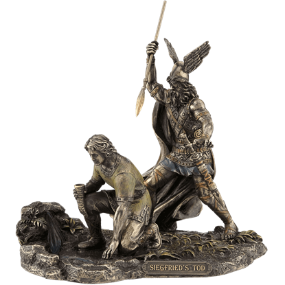 Hagen Killing Siegfried Bronze Statue