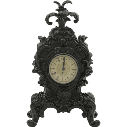 Black Baroque Mantel Clock