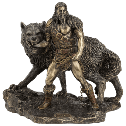 Tyr and the Binding of Fenrir Statue