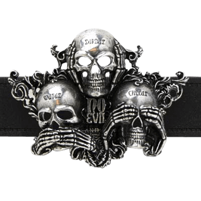 No Evil Belt Buckle