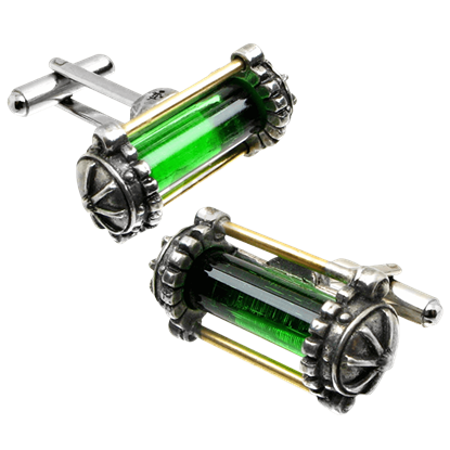 Miasmatic Reactor Core Steampunk Cufflinks