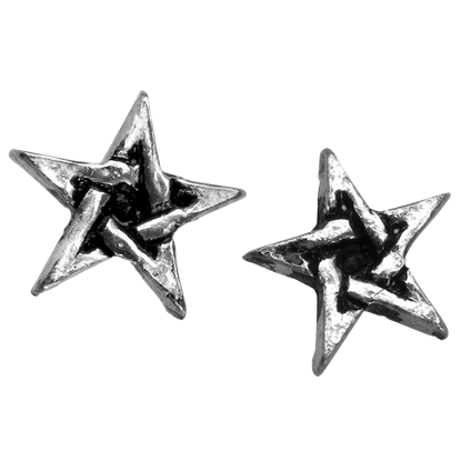 Pentagram Stud Earrings