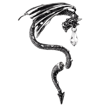Crystal Dragon Single Ear Wrap