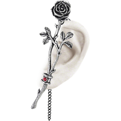 Chained Love Rose Ear Wrap