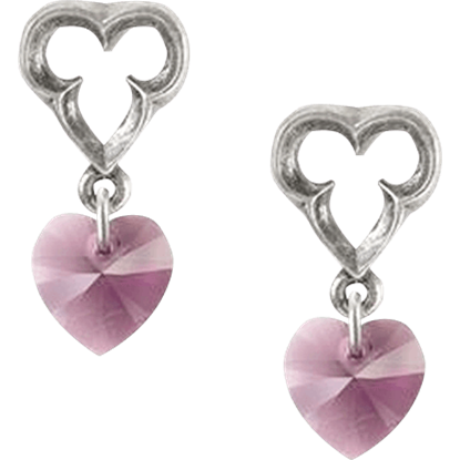 Elizabethan Heart Earrings