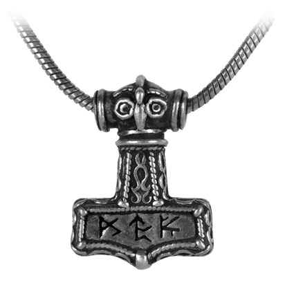 Bindrune Hammer Necklace