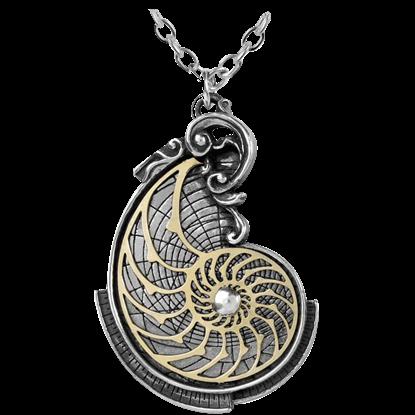 Fibonacci Golden Spiral Necklace
